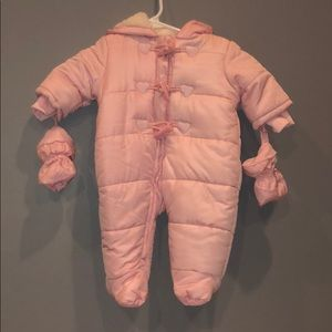 children's place infants down jacket snowsuit!!